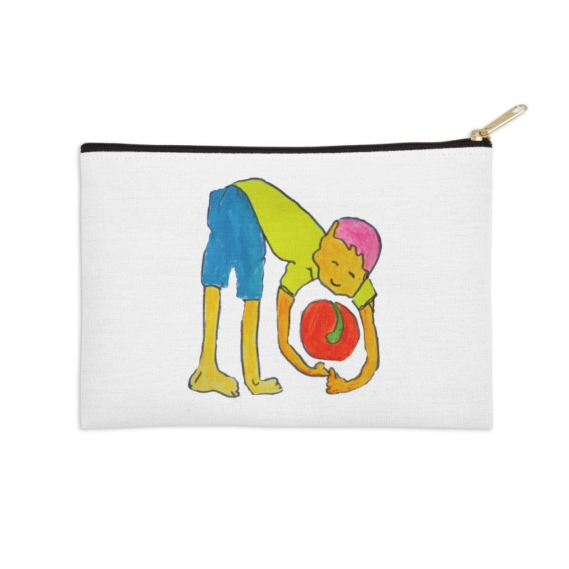 Ball and Boy Accessories Zip Pouch by Darabem's Artist Shop. Darabem Collection