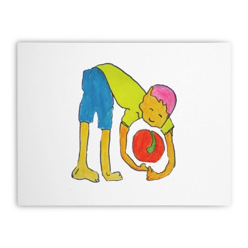 Ball and Boy Home Stretched Canvas by Darabem's Artist Shop. Darabem Collection