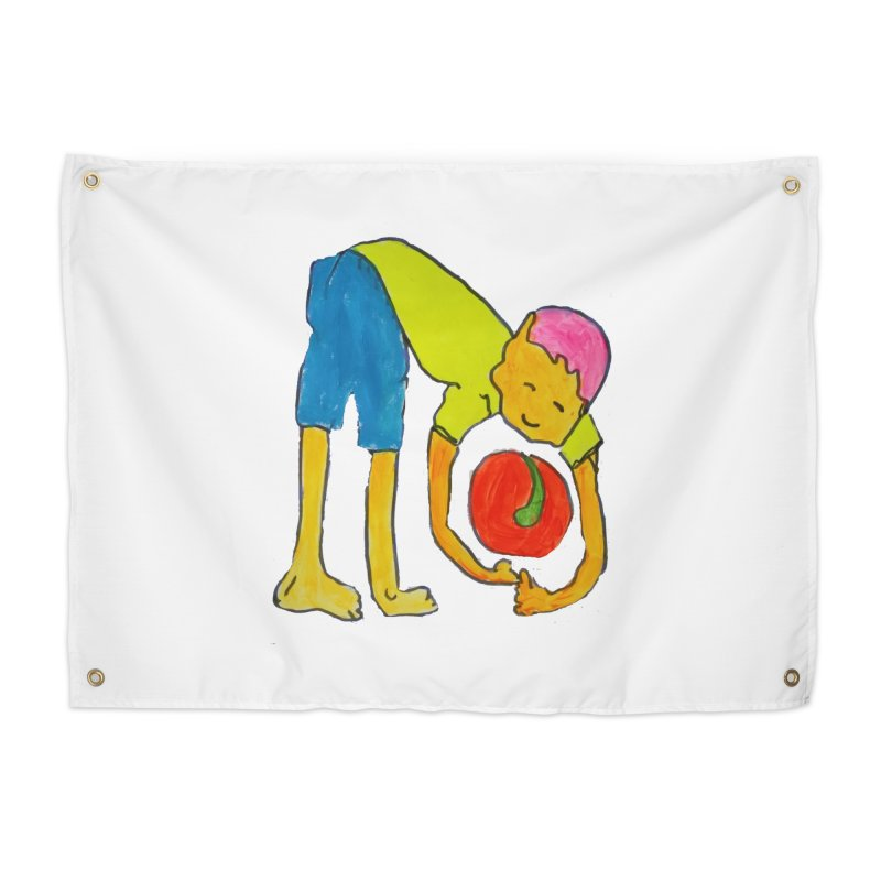 Ball and Boy Home Tapestry by Darabem's Artist Shop. Darabem Collection