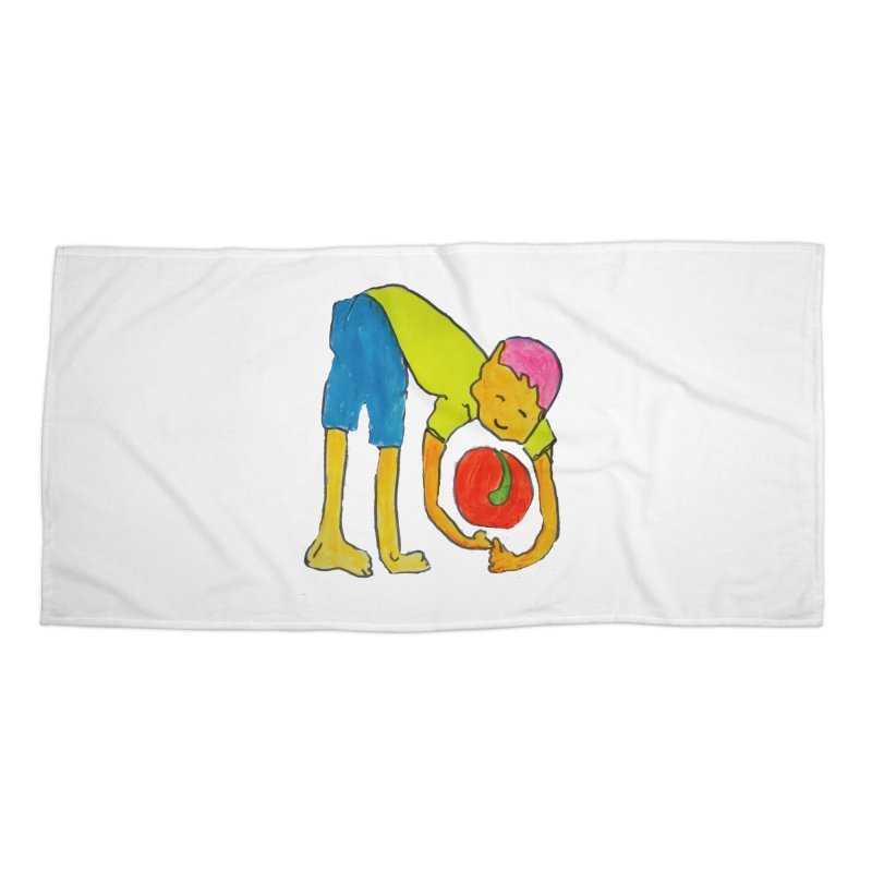 Ball and Boy Accessories Beach Towel by Darabem's Artist Shop. Darabem Collection