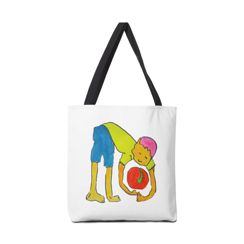 Ball and Boy Accessories Tote Bag Bag by Darabem's Artist Shop. Darabem Collection