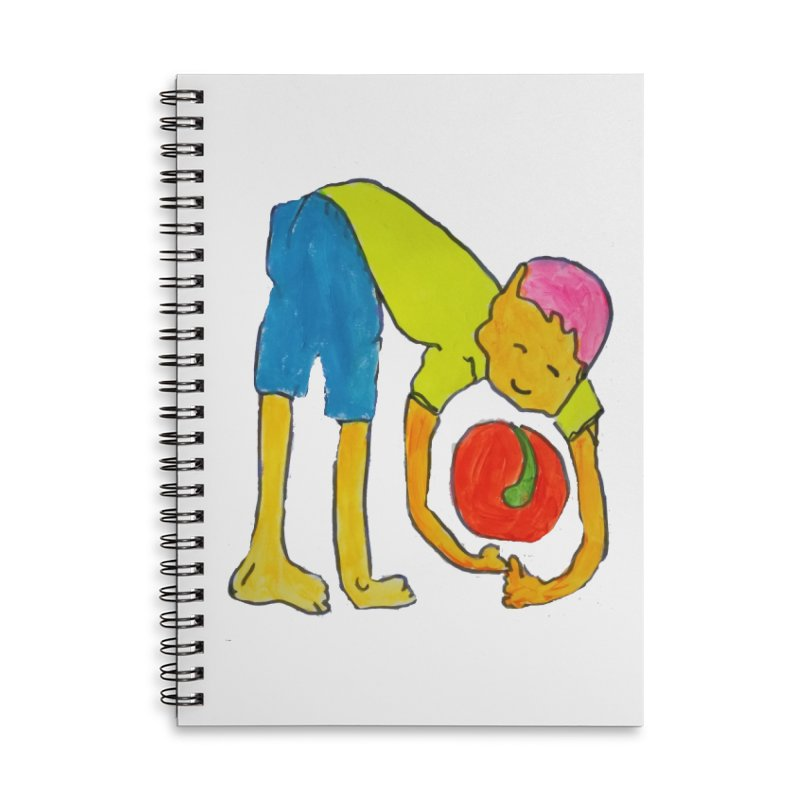 Ball and Boy Accessories Lined Spiral Notebook by Darabem's Artist Shop. Darabem Collection