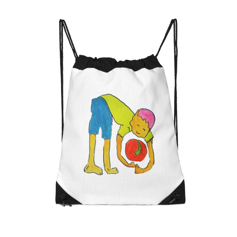Ball and Boy Accessories Drawstring Bag Bag by Darabem's Artist Shop. Darabem Collection