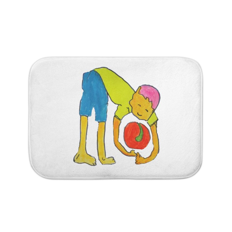 Ball and Boy Home Bath Mat by Darabem's Artist Shop. Darabem Collection