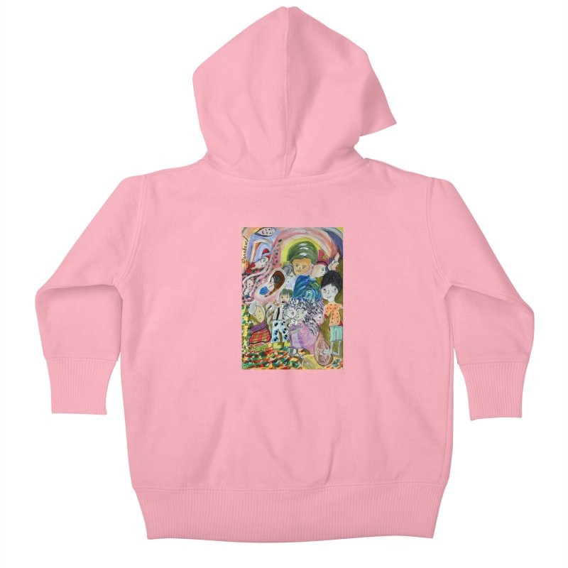 Value Kids Baby Zip-Up Hoody by Darabem's Artist Shop. Darabem Collection