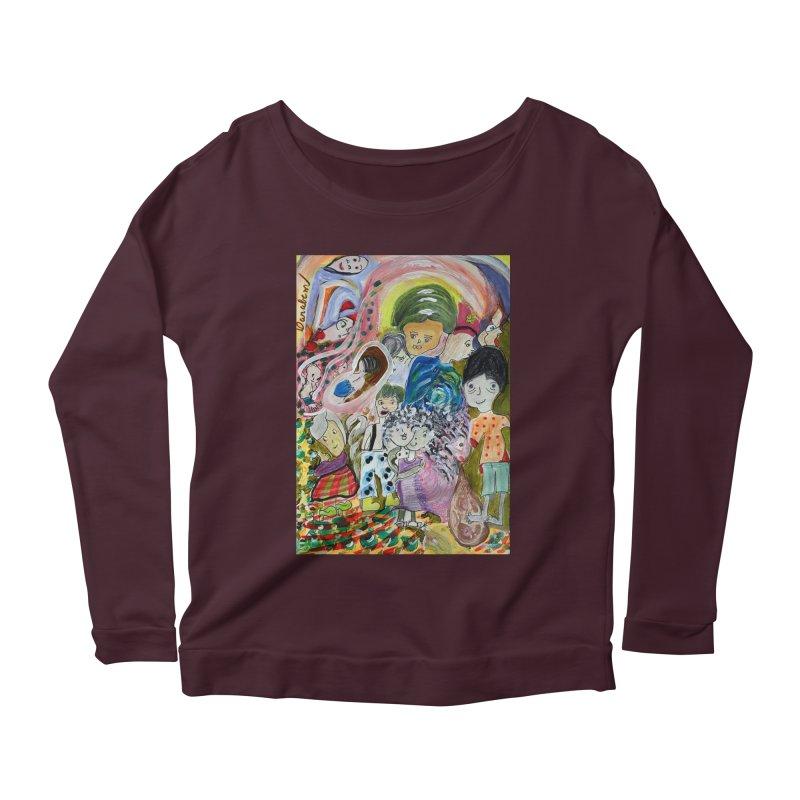 Value Women's Scoop Neck Longsleeve T-Shirt by Darabem's Artist Shop. Darabem Collection