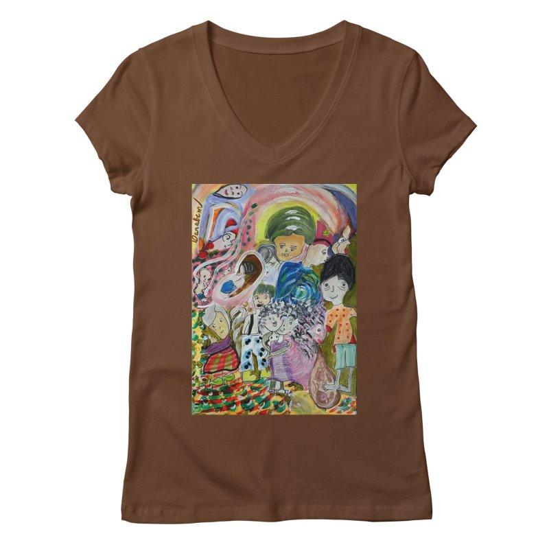 Value Women's Regular V-Neck by Darabem's Artist Shop. Darabem Collection