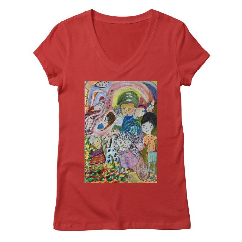 Value Women's V-Neck by Darabem's Artist Shop. Darabem Collection