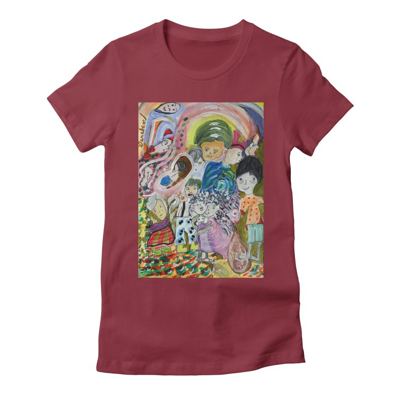 Value Women's Fitted T-Shirt by Darabem's Artist Shop. Darabem Collection