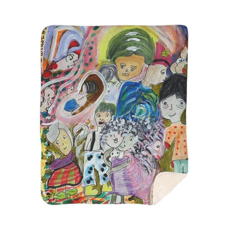 Value Home Sherpa Blanket Blanket by Darabem's Artist Shop. Darabem Collection