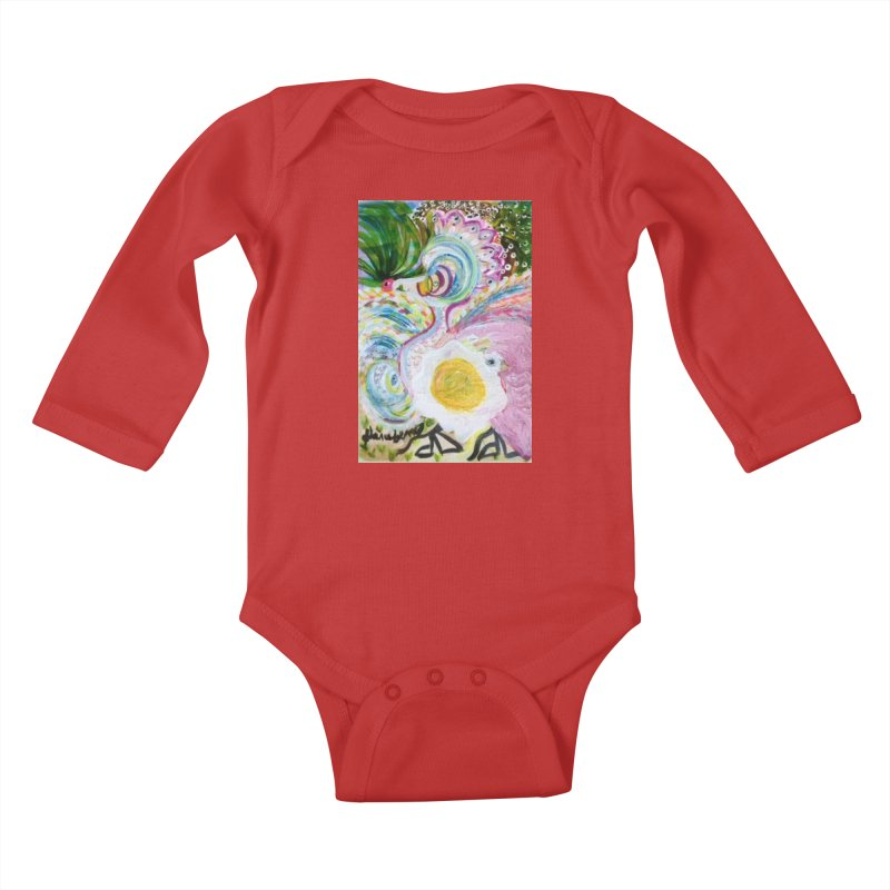 First it was the chicken Kids Baby Longsleeve Bodysuit by Darabem's Artist Shop. Darabem Collection