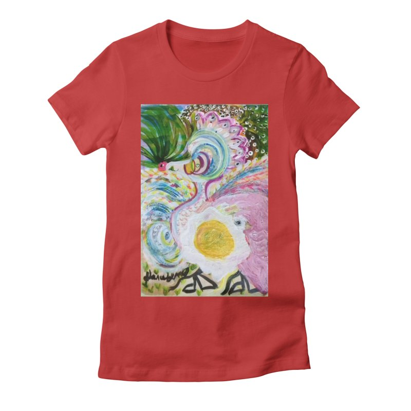 First it was the chicken Women's Fitted T-Shirt by Darabem's Artist Shop. Darabem Collection