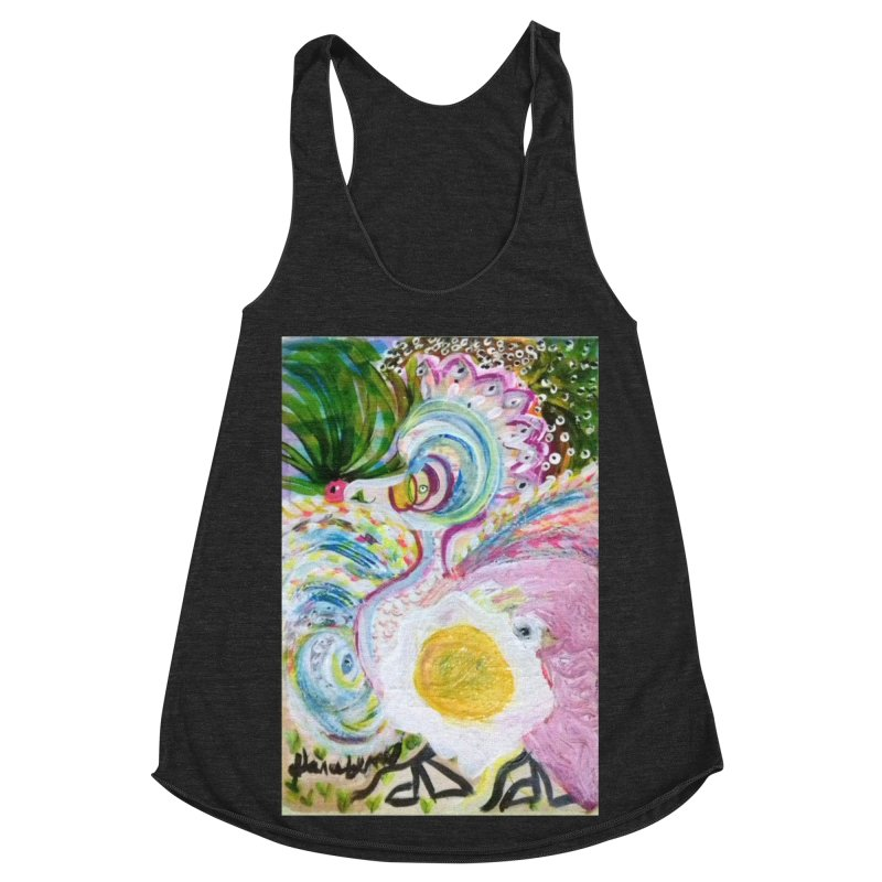 First it was the chicken Women's Racerback Triblend Tank by Darabem's Artist Shop. Darabem Collection