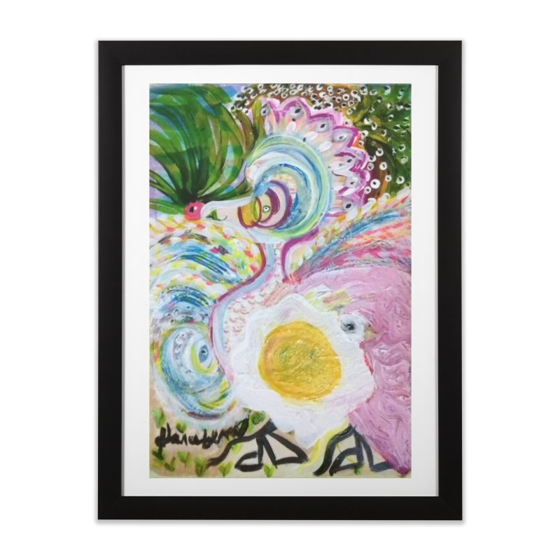 First it was the chicken Home Framed Fine Art Print by Darabem's Artist Shop. Darabem Collection