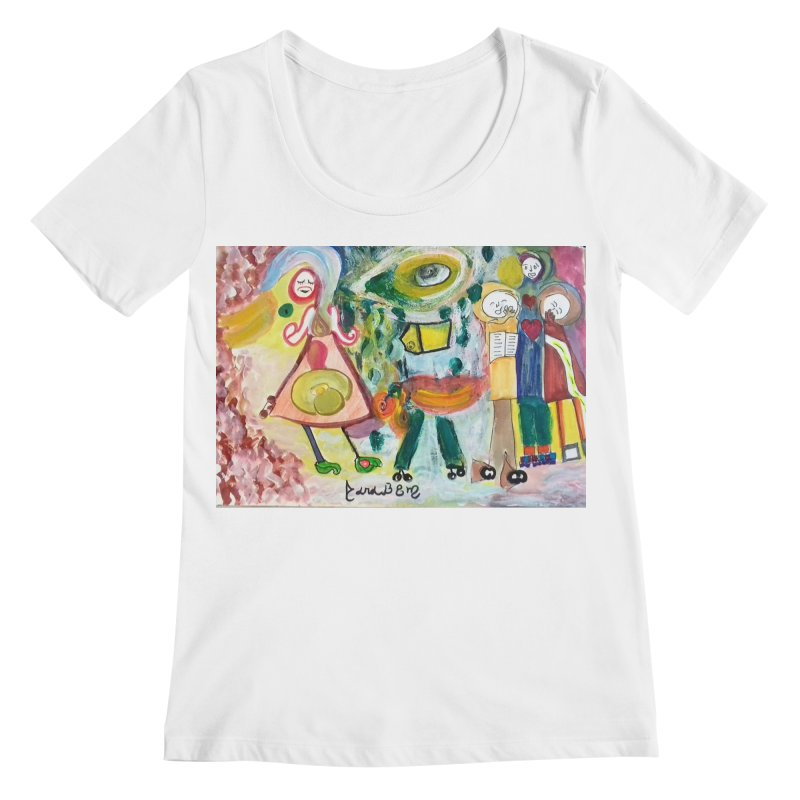 Praise the difference Women's Regular Scoop Neck by Darabem's Artist Shop. Darabem Collection