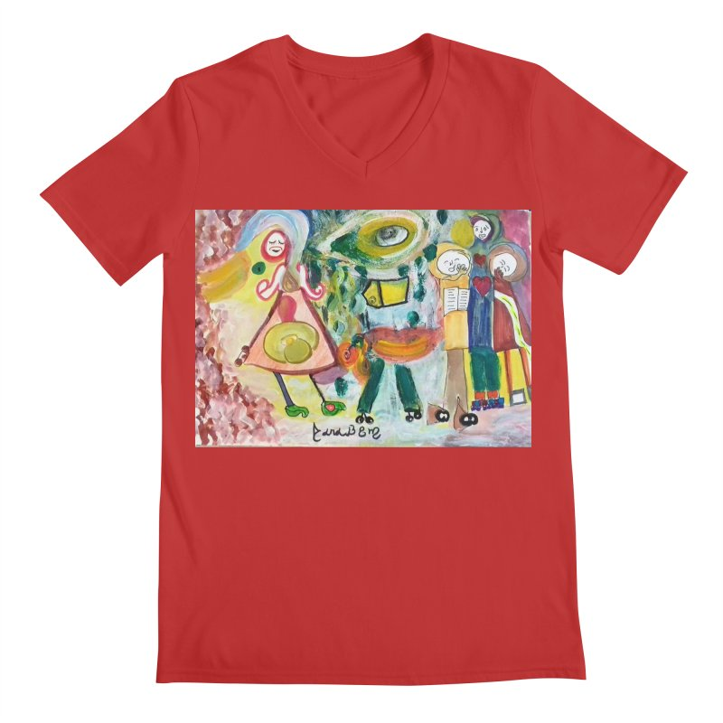 Praise the difference Men's Regular V-Neck by Darabem's Artist Shop. Darabem Collection