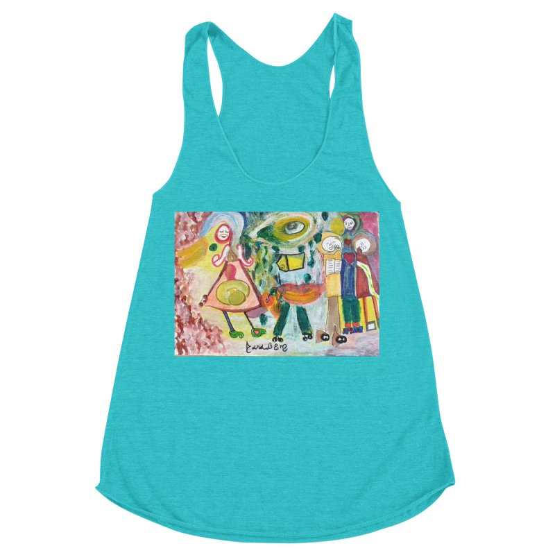 Praise the difference Women's Racerback Triblend Tank by Darabem's Artist Shop. Darabem Collection