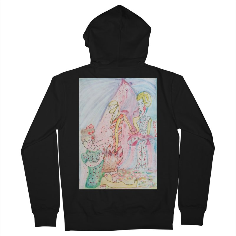 Celebrity Men's French Terry Zip-Up Hoody by Darabem's Artist Shop. Darabem Collection
