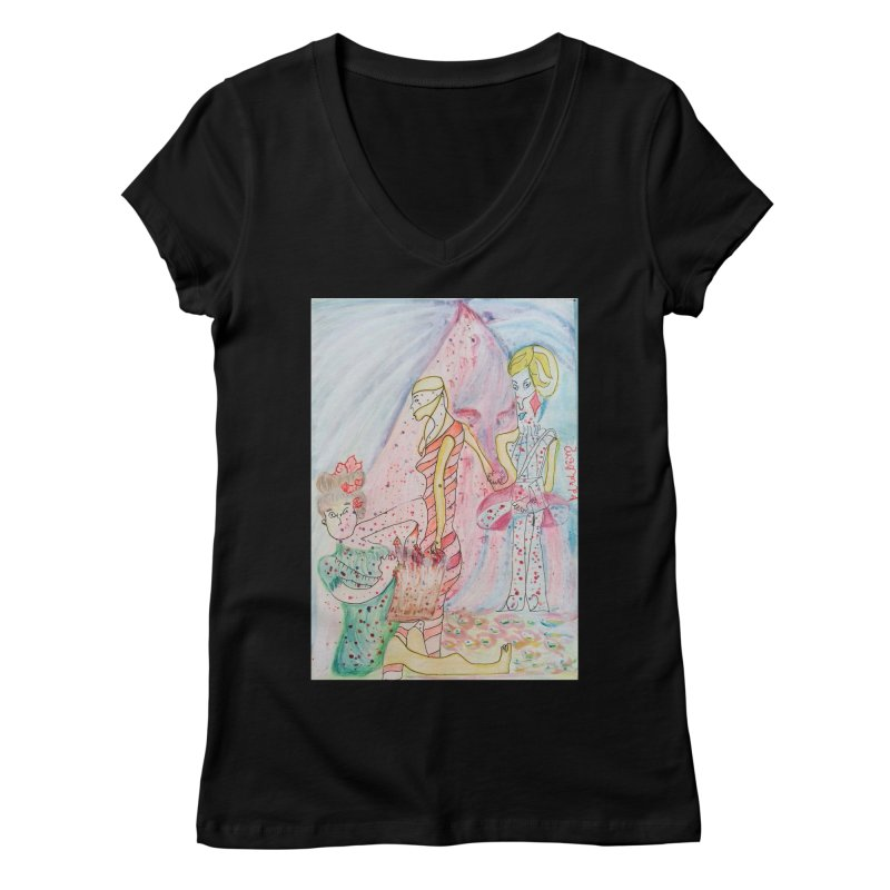Celebrity Women's V-Neck by Darabem's Artist Shop. Darabem Collection