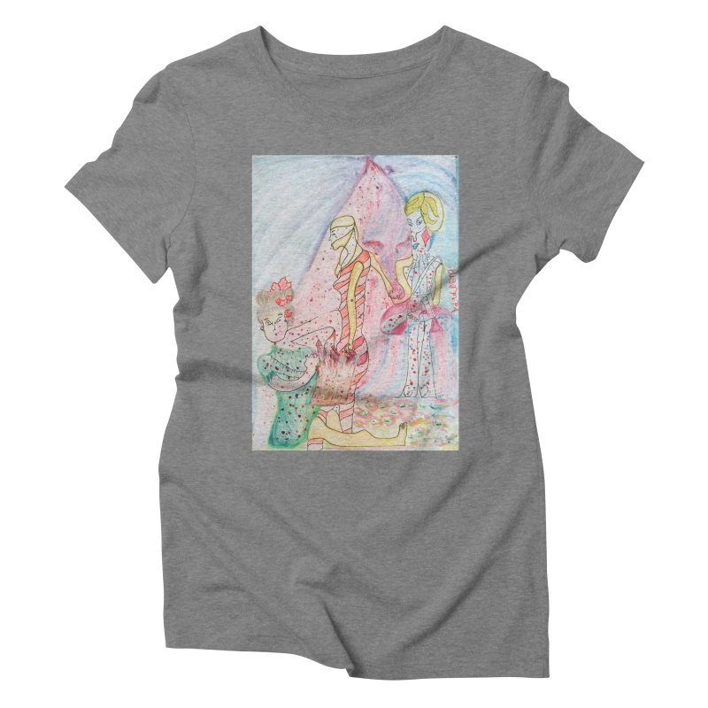 Celebrity Women's Triblend T-Shirt by Darabem's Artist Shop. Darabem Collection