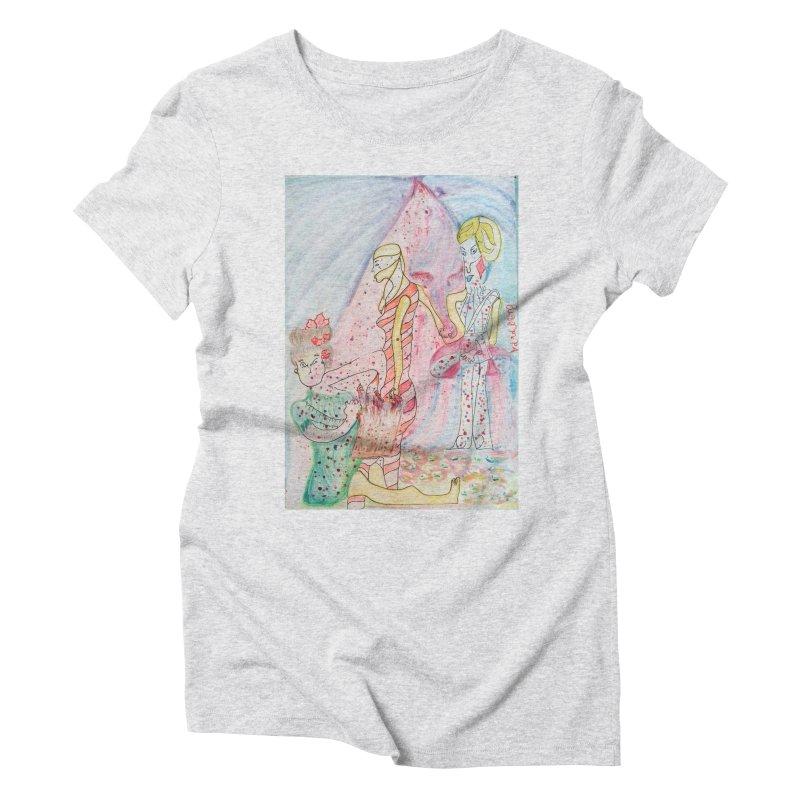 Celebrity Women's Triblend T-Shirt by Darabem's Artist Shop. Darabem Collection