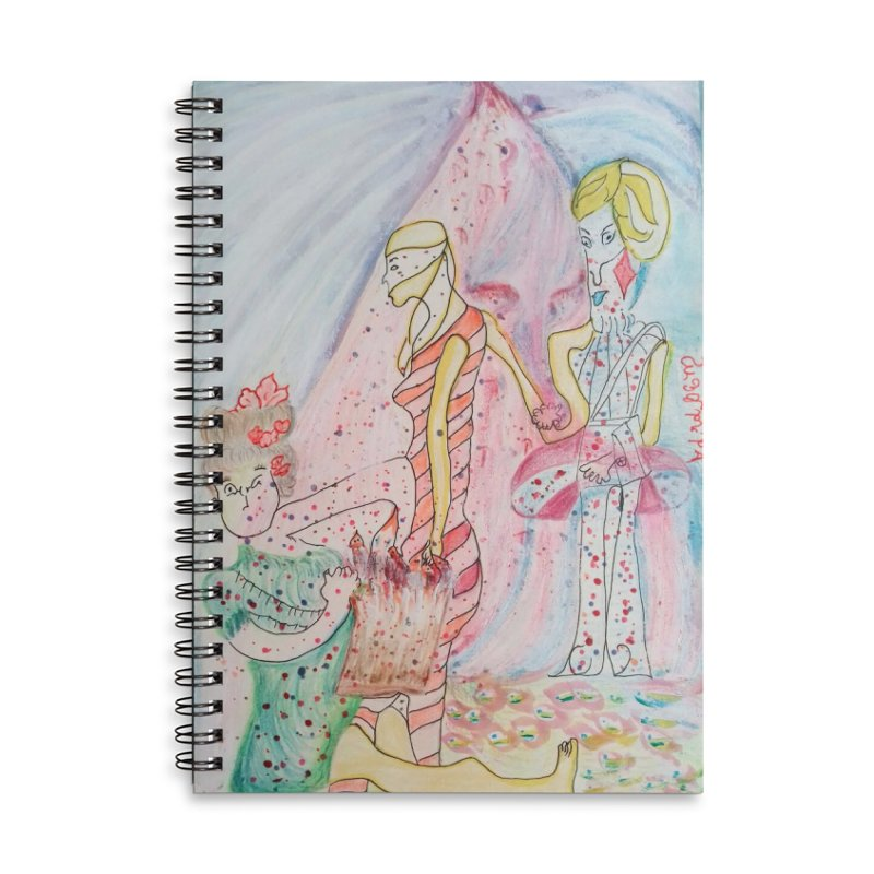 Celebrity Accessories Lined Spiral Notebook by Darabem's Artist Shop. Darabem Collection