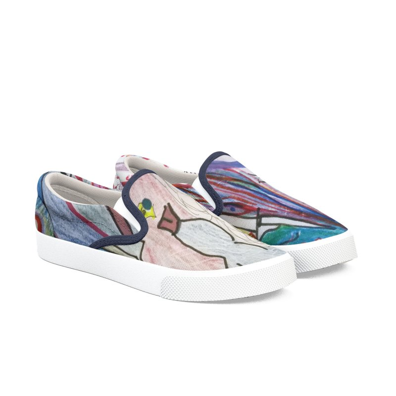 Kaleidoscope cast Men's Slip-On Shoes by Darabem's Artist Shop. Darabem Collection
