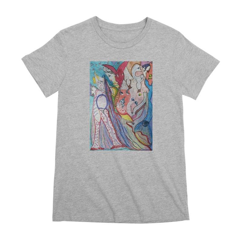 Kaleidoscope cast Women's Premium T-Shirt by Darabem's Artist Shop. Darabem Collection