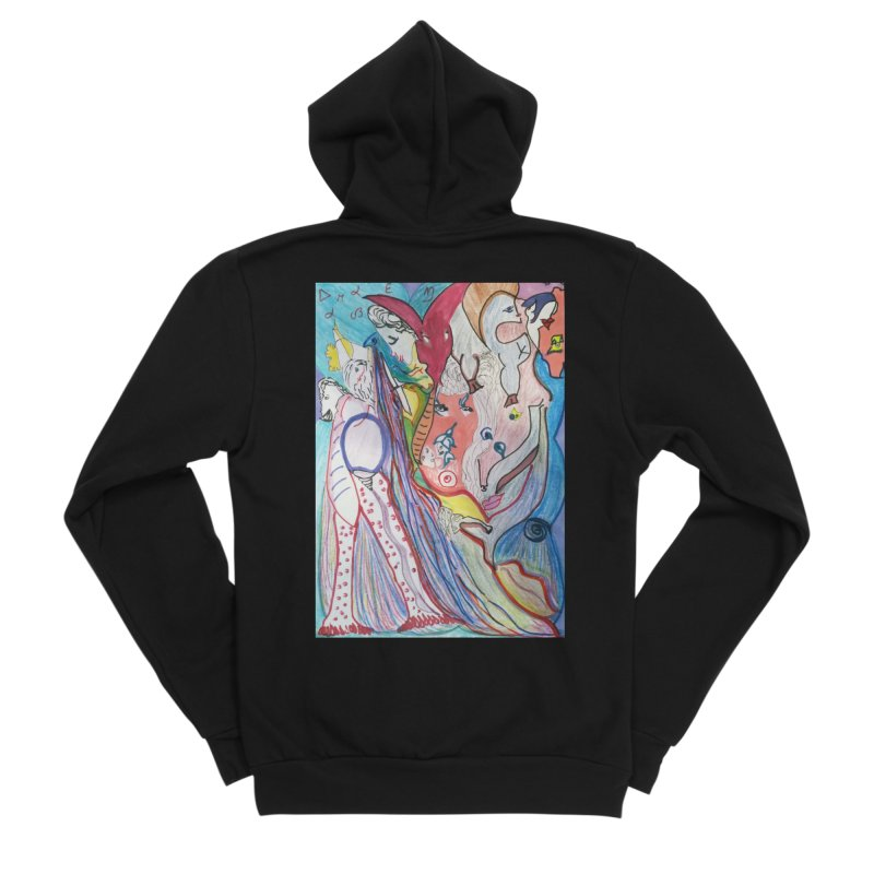 Kaleidoscope cast Women's Sponge Fleece Zip-Up Hoody by Darabem's Artist Shop. Darabem Collection