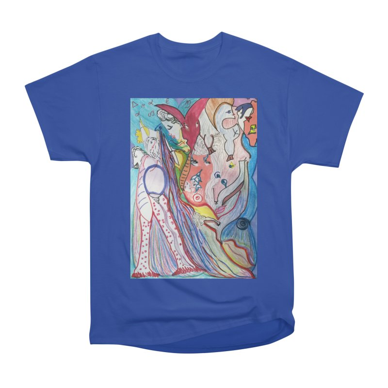 Kaleidoscope cast Women's Heavyweight Unisex T-Shirt by Darabem's Artist Shop. Darabem Collection