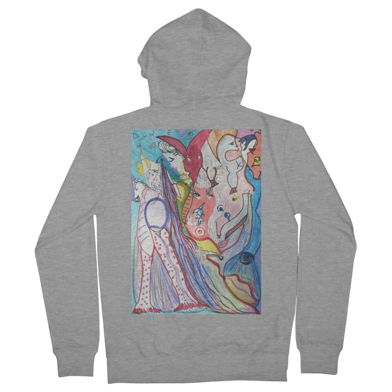 Kaleidoscope cast Women's French Terry Zip-Up Hoody by Darabem's Artist Shop. Darabem Collection
