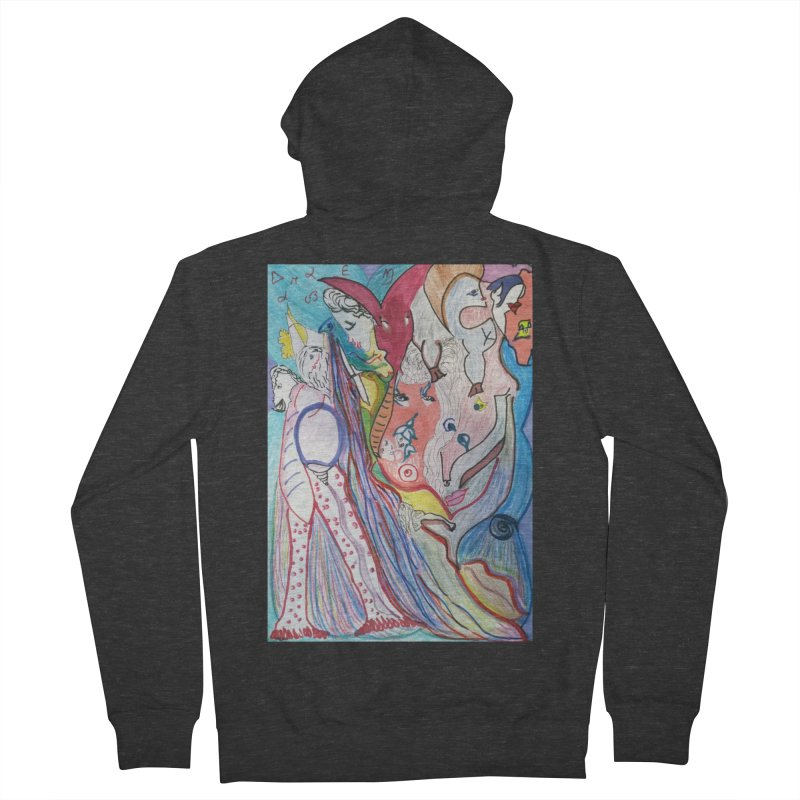 Kaleidoscope cast Men's French Terry Zip-Up Hoody by Darabem's Artist Shop. Darabem Collection