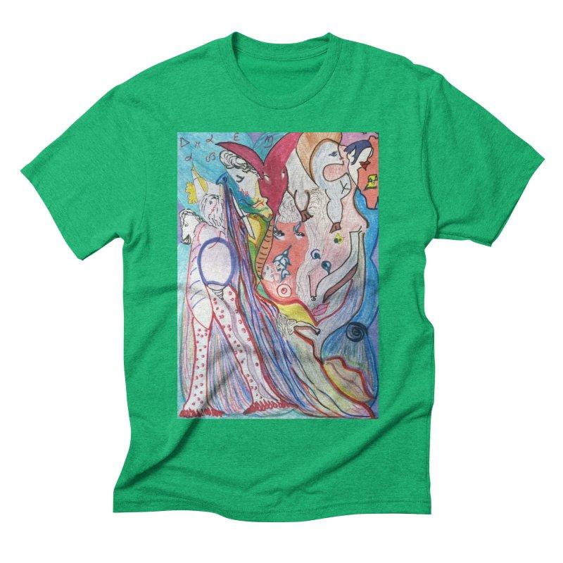 Kaleidoscope cast Men's Triblend T-Shirt by Darabem's Artist Shop. Darabem Collection