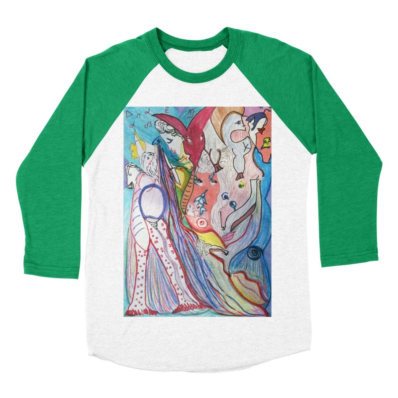 Kaleidoscope cast Women's Baseball Triblend Longsleeve T-Shirt by Darabem's Artist Shop. Darabem Collection