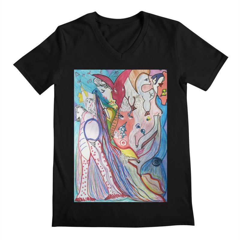 Kaleidoscope cast Men's Regular V-Neck by Darabem's Artist Shop. Darabem Collection
