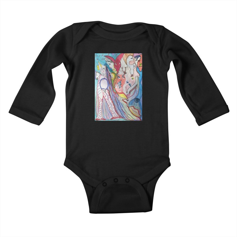 Kaleidoscope cast Kids Baby Longsleeve Bodysuit by Darabem's Artist Shop. Darabem Collection