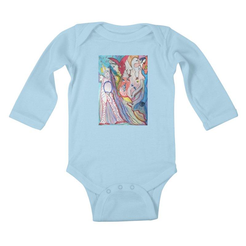 Kaleidoscope cast Kids Baby Longsleeve Bodysuit by Darabem's Artist Shop. Darabem Collection