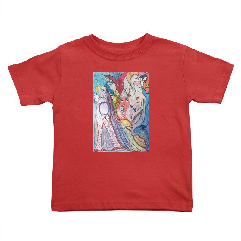 Kaleidoscope cast Kids Toddler T-Shirt by Darabem's Artist Shop. Darabem Collection