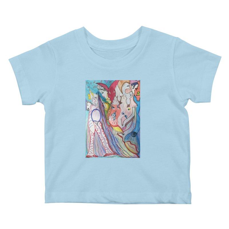 Kaleidoscope cast Kids Baby T-Shirt by Darabem's Artist Shop. Darabem Collection