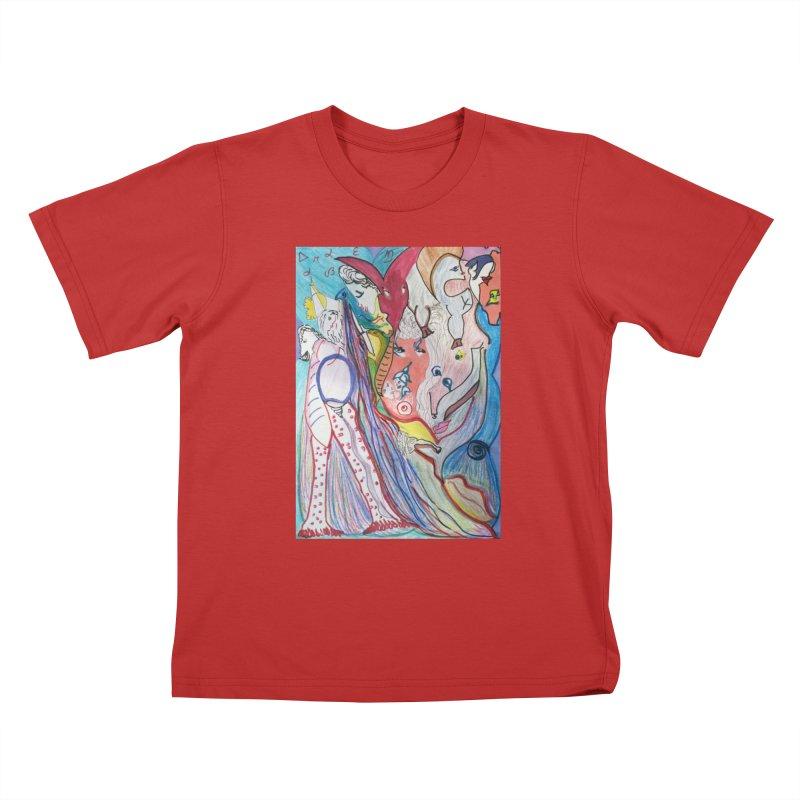 Kaleidoscope cast Kids T-Shirt by Darabem's Artist Shop. Darabem Collection