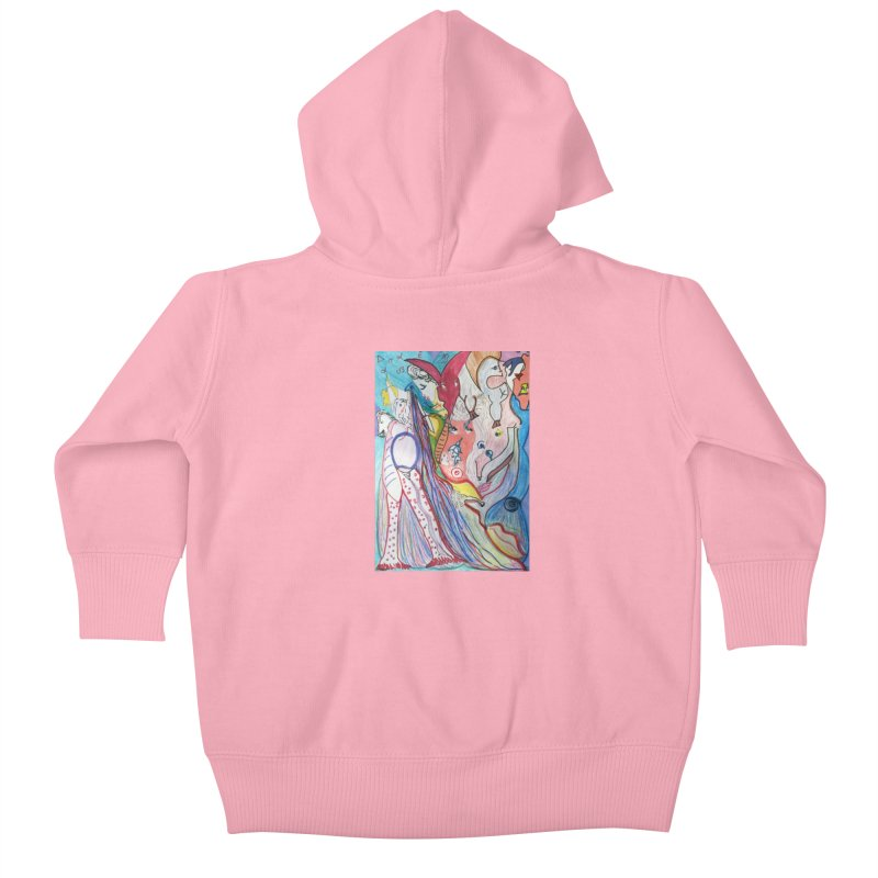 Kaleidoscope cast Kids Baby Zip-Up Hoody by Darabem's Artist Shop. Darabem Collection
