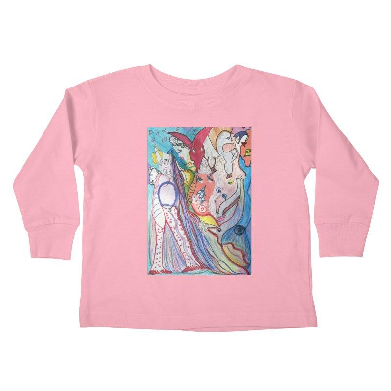 Kaleidoscope cast Kids Toddler Longsleeve T-Shirt by Darabem's Artist Shop. Darabem Collection