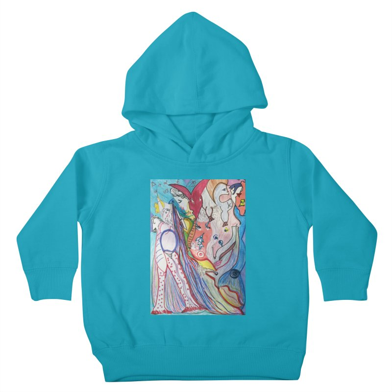Kaleidoscope cast Kids Toddler Pullover Hoody by Darabem's Artist Shop. Darabem Collection
