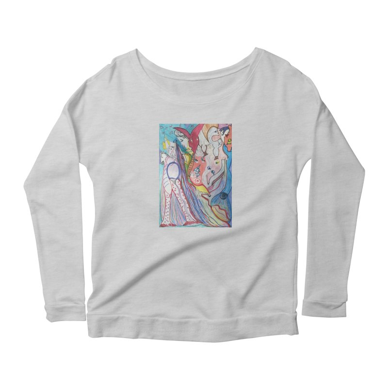 Kaleidoscope cast Women's Scoop Neck Longsleeve T-Shirt by Darabem's Artist Shop. Darabem Collection