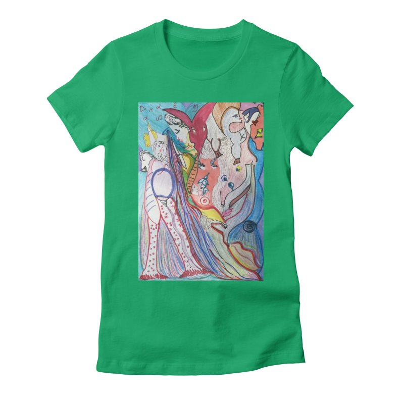 Kaleidoscope cast Women's Fitted T-Shirt by Darabem's Artist Shop. Darabem Collection