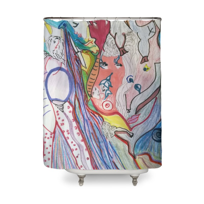 Kaleidoscope cast Home Shower Curtain by Darabem's Artist Shop. Darabem Collection