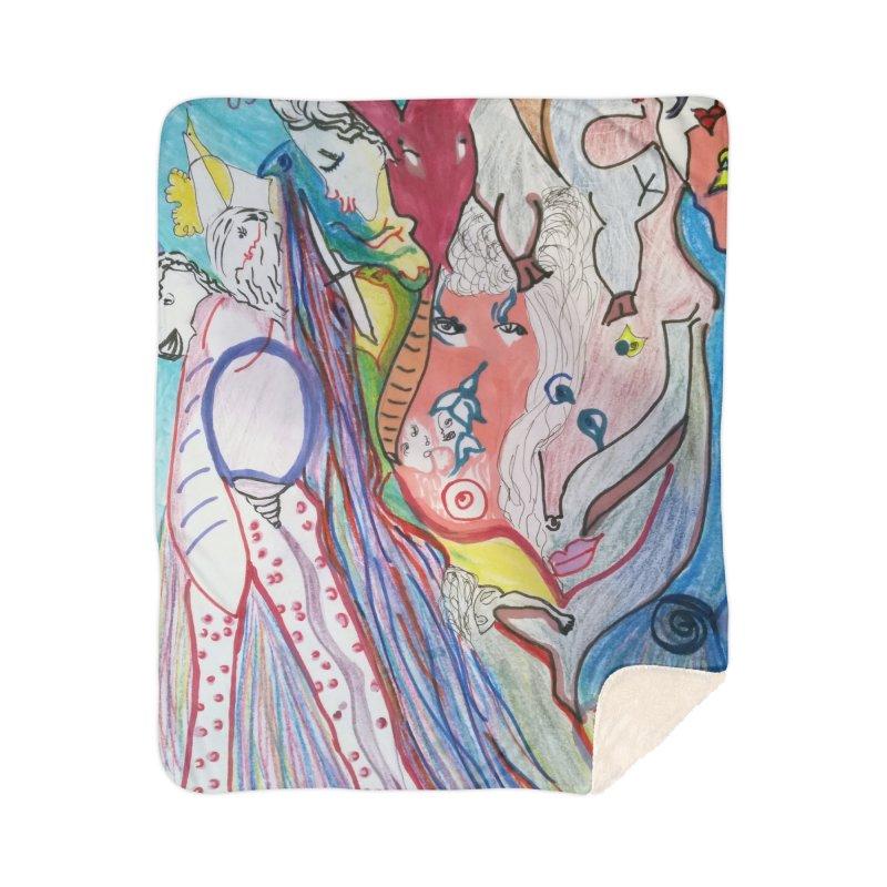 Kaleidoscope cast Home Sherpa Blanket Blanket by Darabem's Artist Shop. Darabem Collection