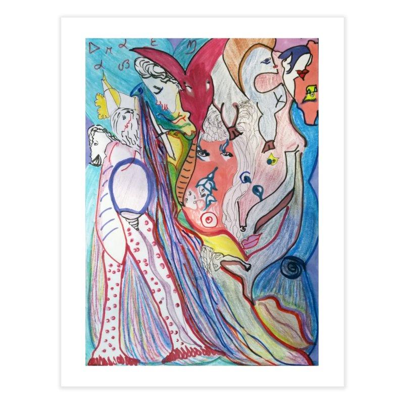 Kaleidoscope cast Home Fine Art Print by Darabem's Artist Shop. Darabem Collection