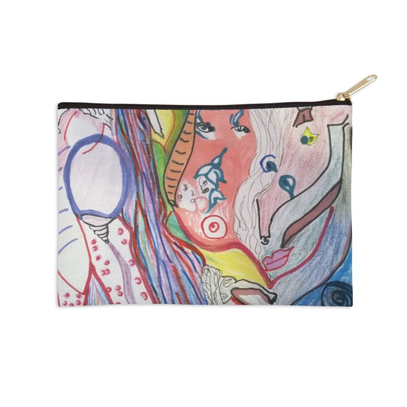 Kaleidoscope cast Accessories Zip Pouch by Darabem's Artist Shop. Darabem Collection