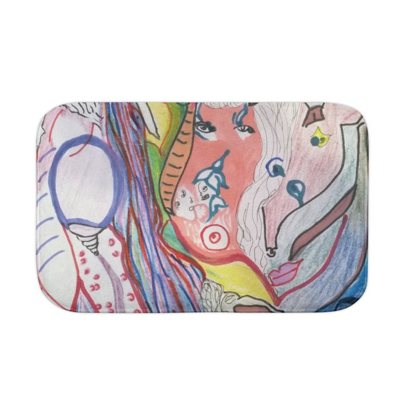 Kaleidoscope cast Home Bath Mat by Darabem's Artist Shop. Darabem Collection